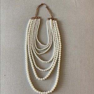 Jewelry - Faux Multilayer Pearl Necklace